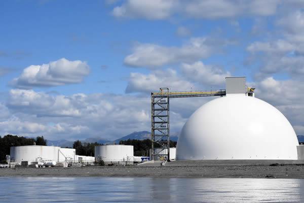 Alaska Basic Industries Gets New Storage Dome