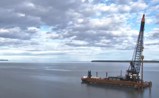 At $10k an hour, crews begin placing test piles for Port of Anchorage upgrade