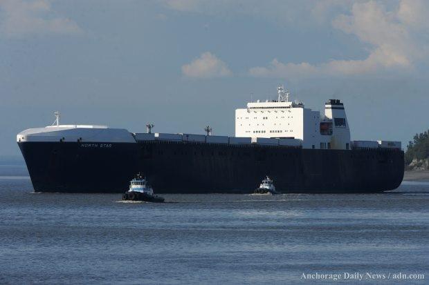 Cargo ship sets sail for Alaska after delay