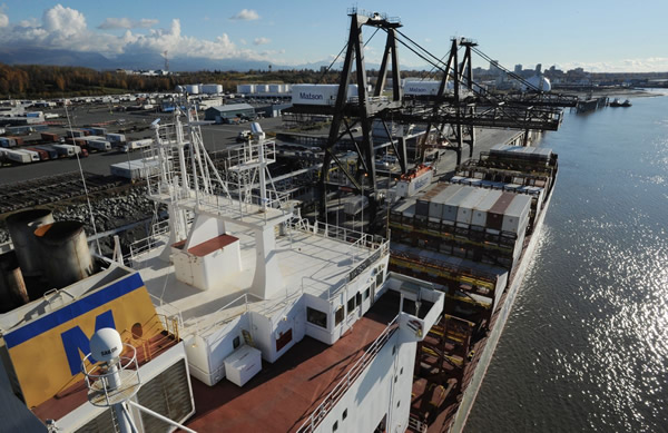 As economy loses steam, Alaska's major shippers report import declines