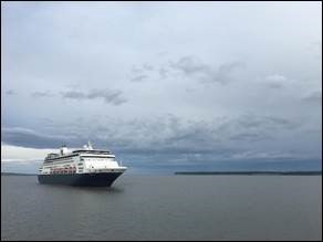 First cruise ship of the season arrives at Port of Anchorage